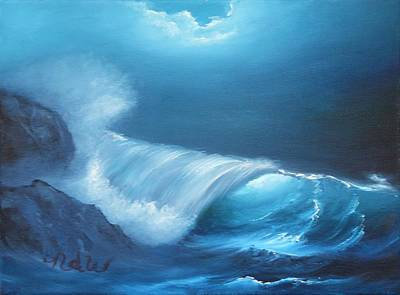 Painting - Basic Wave by Natascha De la Court