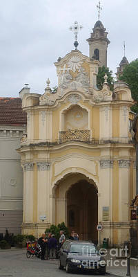 Photograph - Basilian Gate In Vilnius Lithuania 1 by Rudi Prott