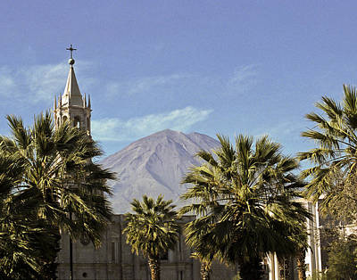 Photograph - Basilica Cathedral in Arequipa Peru by Jared Bendis