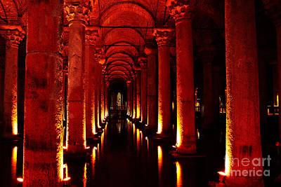 Byzantine Photograph - Basilica Cistern by Emily Kay
