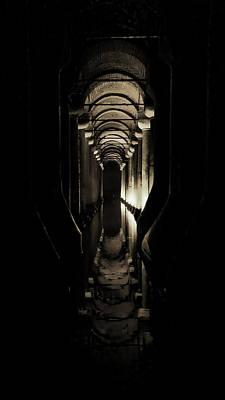 Byzantine Photograph - Basilica Cistern by Stephen Stookey