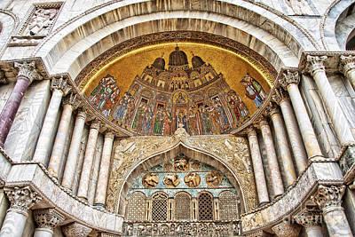 Portal Photograph - Basilica Di San Marco by Delphimages Photo Creations