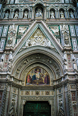 Photograph - Basilica Di Santa Maria Del Fiore Florence Italy Color Enhanced by Karen Stephenson