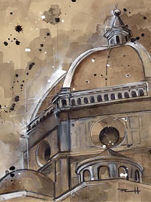 Painting - Basilica Di Santa Maria Del Fiore by Sean Parnell