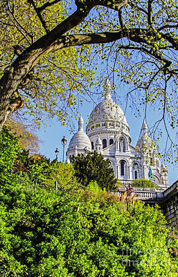Sacre Coeur Photograph - Basilica Of The Sacred Heart Of Jesus by Elvis Vaughn