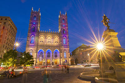 Old Montreal Photograph - Basilique Notre-dame De Montreal by Mircea Costina Photography