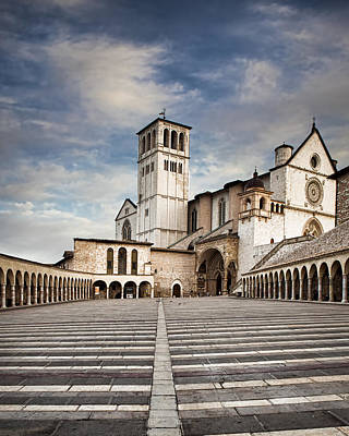 Tuscan Hills Photograph - Basillica Of St Francis Of Assisi In Italy by Susan Schmitz