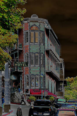 Basin Park Hotel Art Print by Jan Amiss Photography