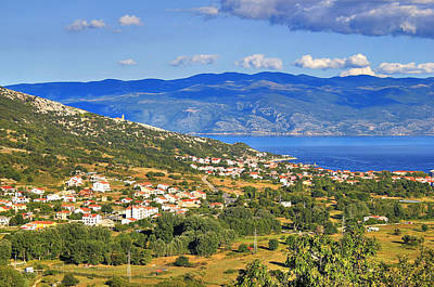 Photograph - Baska Bay Mountain And Sea Landscape by Brch Photography