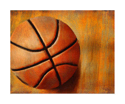 Kick Digital Art - Basket Ball by Craig Tinder