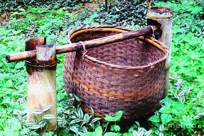 Photograph - Basket by Ethna Gillespie