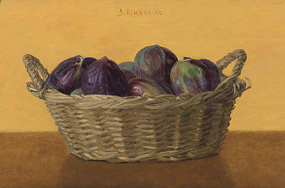 Painting - Basket Filled With Figs by Ben Rikken