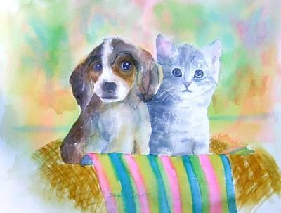 Painting - Basket Full Of Love by Debbie Lewis