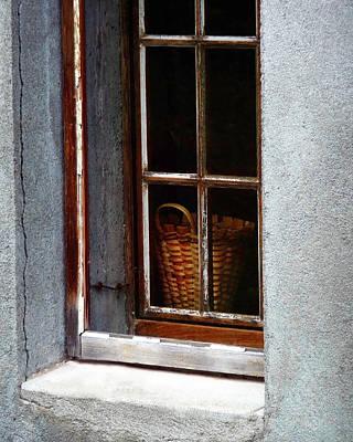 Photograph - Basket In Window by Gigi Ebert