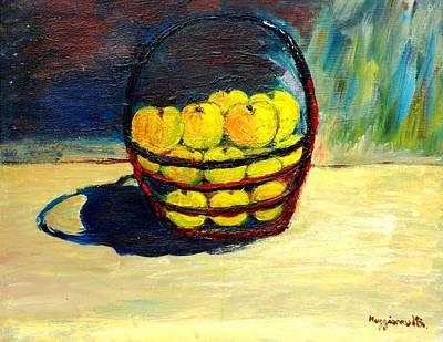Basket Of Aplles Art Print