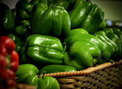Photograph - Basket Of Bell Peppers by Julie Palencia