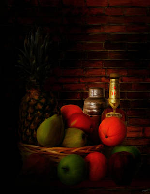 Pineapple Digital Art - Basket Of Colors by Lourry Legarde