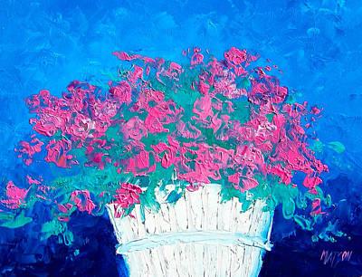Basket Of Flowers Art Print by Jan Matson