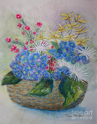 Painting - Basket Of Flowers by Terri Maddin-Miller
