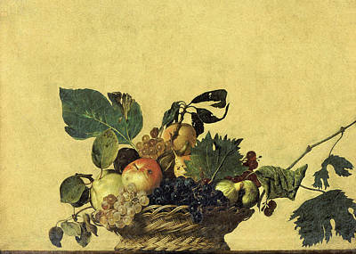 Basket Of Fruit Art Print by Caravaggio