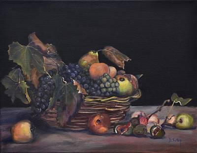 Basket Of Fruit Print by Donna Tuten