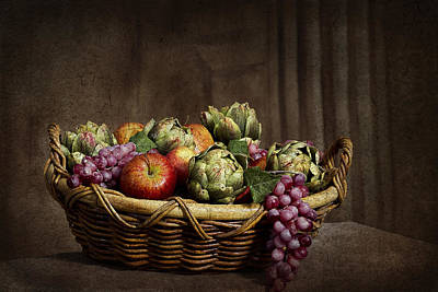 Photograph - Basket Of Fruit - Old World by Trudy Wilkerson