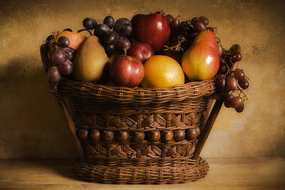 Food And Beverage Photograph - Basket Of Fruits by Andrew Soundarajan