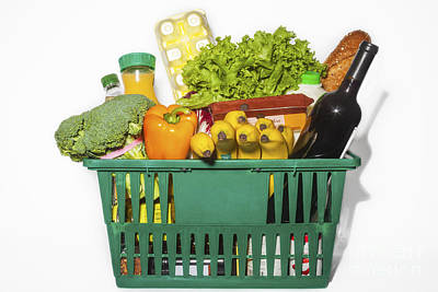 Photograph - Basket Of Groceries by Diane Macdonald