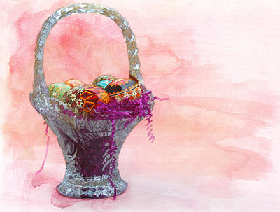 Digital Art - Basket Of Joy by Kathleen Holley
