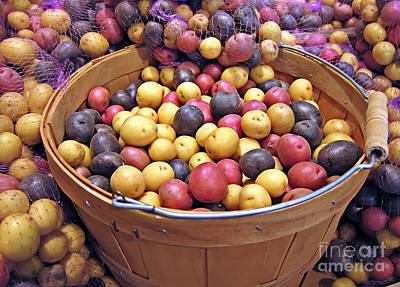 Photograph - Basket Of Red White And Blue Potatoes by Valerie Garner