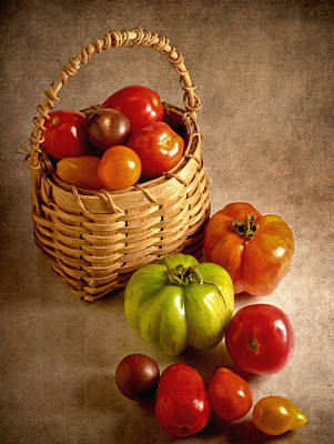 Photograph - Basket Of Tomatoes by David and Carol Kelly