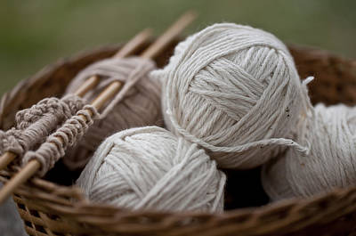 Photograph - Basket Of Yarn by Wilma  Birdwell