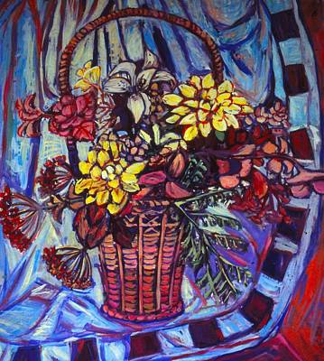 Painting - Basket Of Yellow by Kendall Kessler