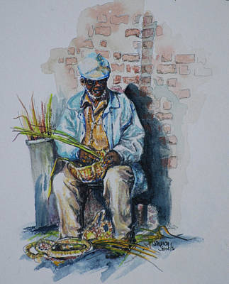 Painting - Basket Weaver by Sharon Sorrels