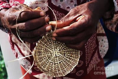 Hand-weaving Photograph - Basket Weaver by Thomas R Fletcher