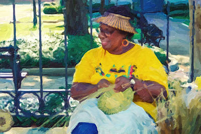 Photograph - Basket Weavers Of Savannah Georgia by Patricia Greer