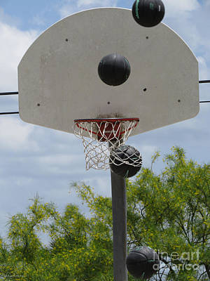 Sports Royalty-Free and Rights-Managed Images - Basketball - All Net by Ella Kaye Dickey