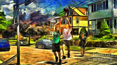 Basketball At Home Art Print