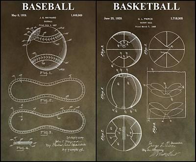 Slam Dunk Photograph - Basketball Baseball Patent by Dan Sproul