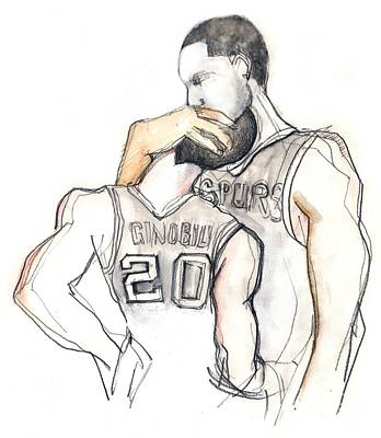 Basketball Brothers Original by Carolyn Weltman