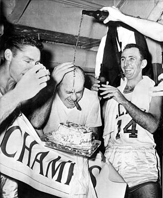 Beer Photograph - Basketball Champion Celtics by Underwood Archives