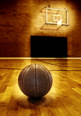 Recently Sold - Sports Royalty-Free and Rights-Managed Images - Basketball Court Competition by Lane Erickson