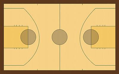 Basketball Court Art Print