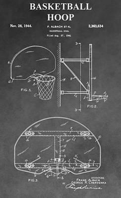 Basketball Goal Patent Art Print by Dan Sproul