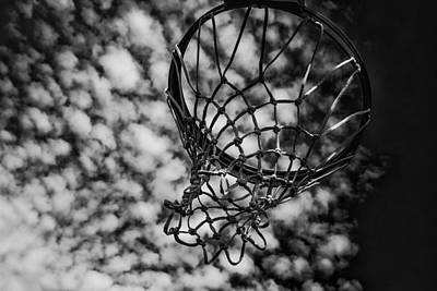 Basketball Abstract Photograph - Basketball Heaven by Karol Livote
