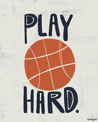 Basketball Print by Katie Doucette