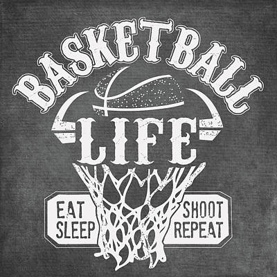 Basketball Painting - Basketball Life by Longfellow Designs