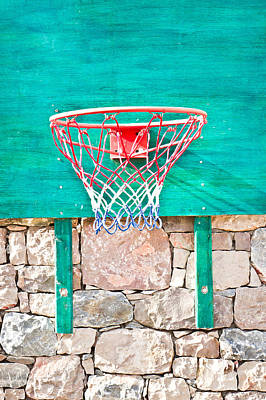 Basketball Net Art Print by Tom Gowanlock