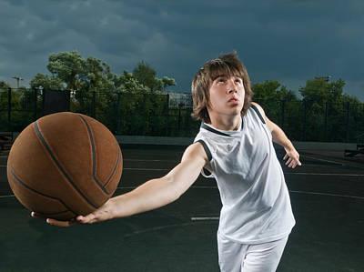 Basketball Player Attacking Art Print