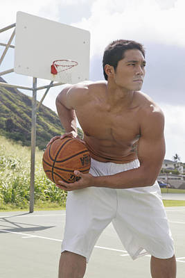 Basketball Player Print by Brandon Tabiolo